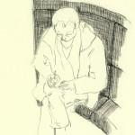 Lesender Mann im Hugendubel