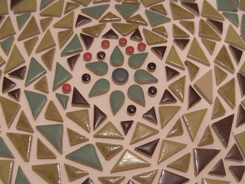 Mosaiksteine aus Steinzeug, fertig gebrannt