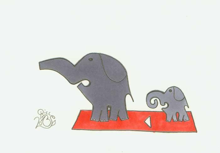 Elefant und Elefäntchen