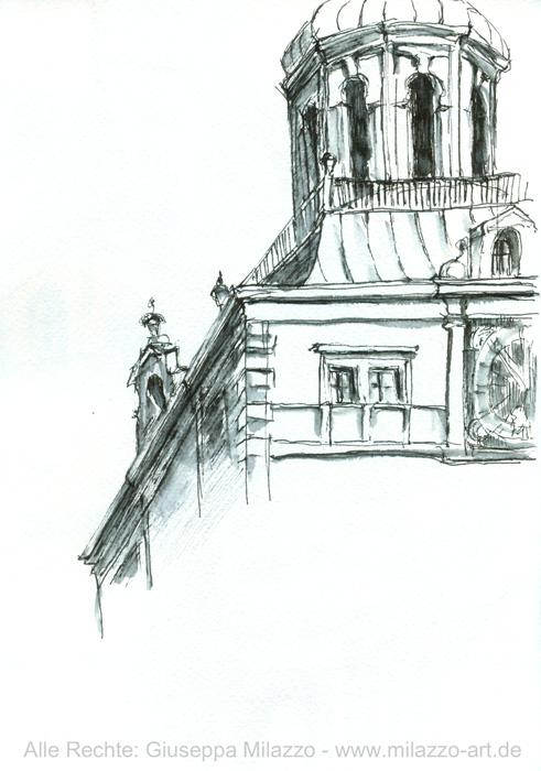 Turm des Bayerischen Nationalmuseums