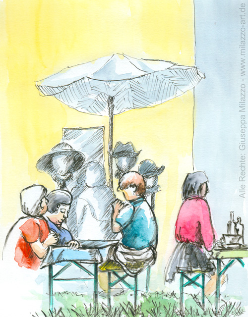 Johannismarkt Hutstand