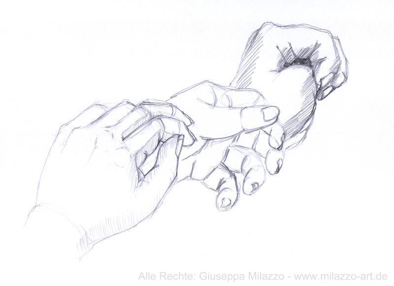 Meine Hand als Model