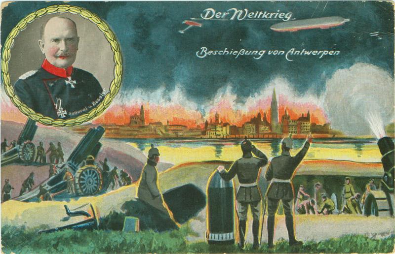 Postkarte Beschießung von Antwerpen von 1915