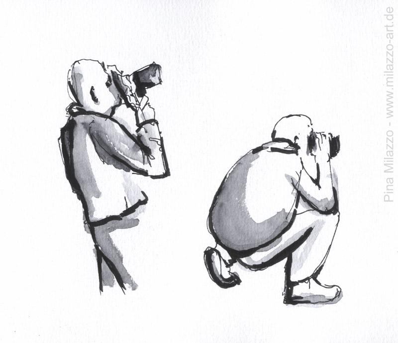 Fotograf bei der Arbeit - knips, knips, knips ...