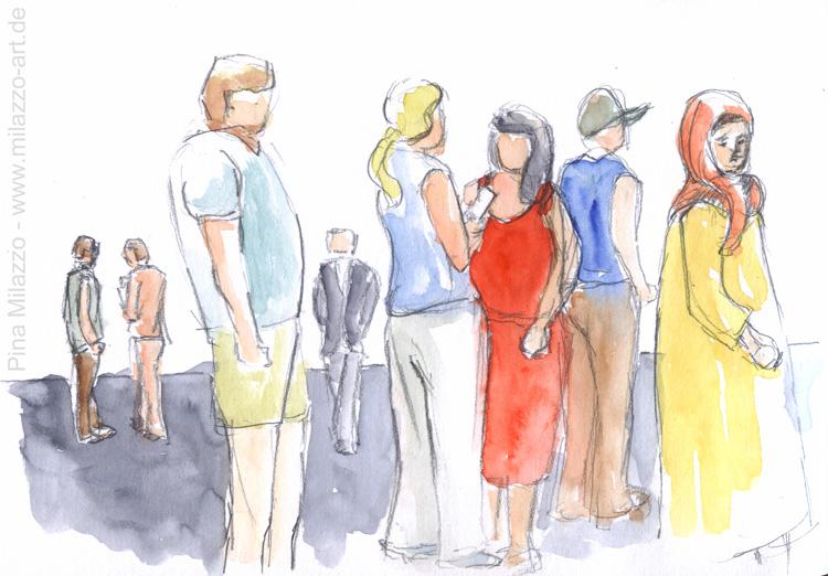 Besucher des Sommerfestivals im Olympiapark - bunt gemischt
