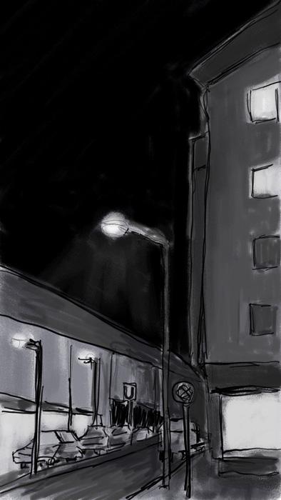 Moosach bei Nacht