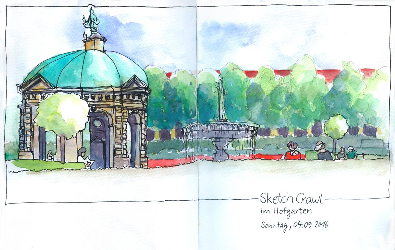Die Urban Sketcher im Hofgarten