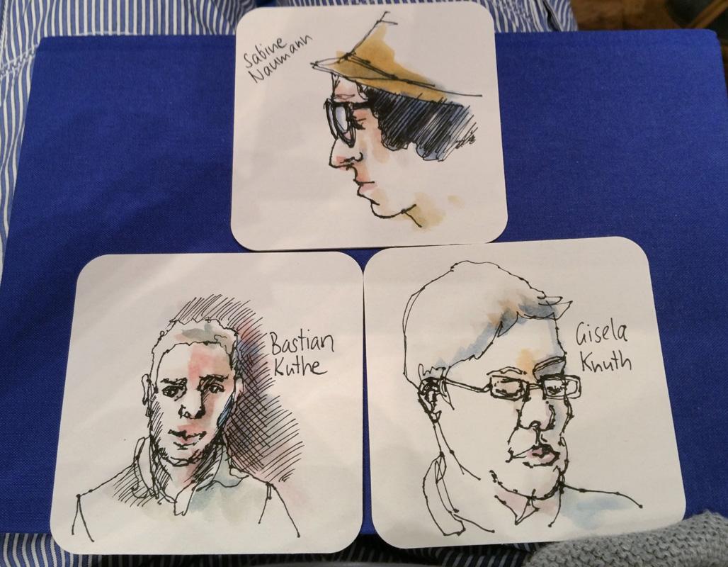 Portraitparty - meine Skizzen