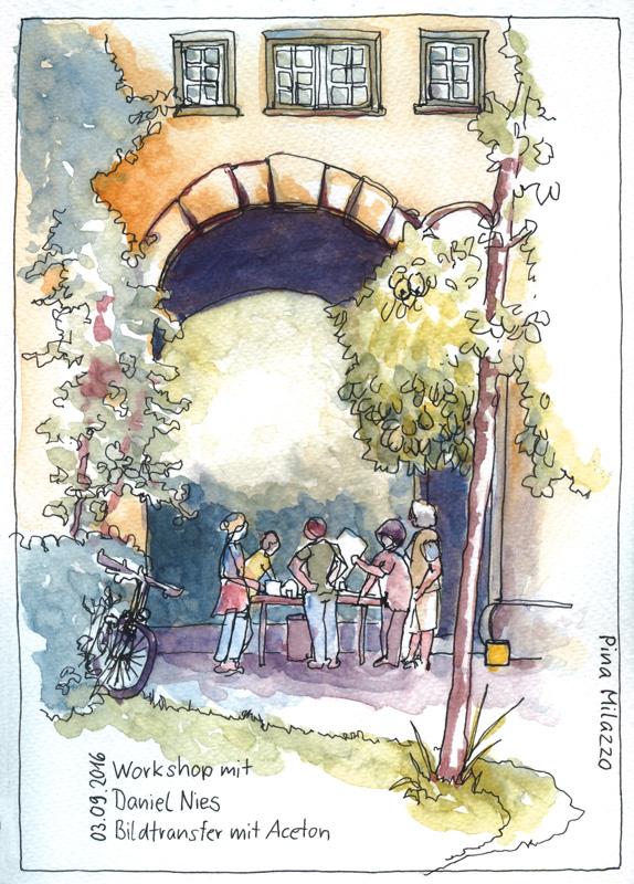 Workshop in der Seidlvilla - Meine Zeichnung für die Ausstellung