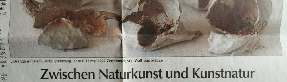Zwischen Naturkunst und Kunstnatur - Artikel aus der Landauer Zeitung vom 27. April 2020